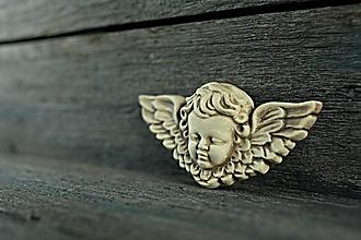 Dekorácie - Reliéfní anděl patina burel - 9886676_
