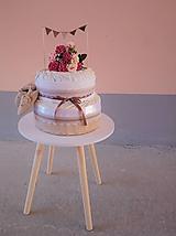 Detské doplnky - VINTAGE plienková torta pre dievčatko - 9887302_