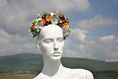Ozdoby do vlasov - Kvetinová čelenka If the world - 9888325_