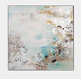 - abstraktný obraz na predaj, Jazierko, 80x80 - 9886358_
