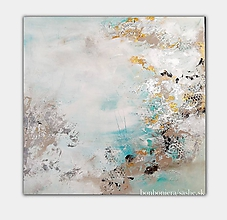 Obrazy - abstraktný obraz na predaj, Jazierko, 80x80 - 9886358_