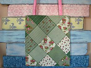 Nákupné tašky - Taška pro milovnici patchworku - 9887042_