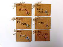 Papiernictvo - svadobné menovky-maľované - 9890730_