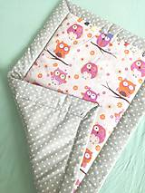 Textil - Podložka/ prikrývka pre bábätká NEWBORN- sovičky - 9890547_