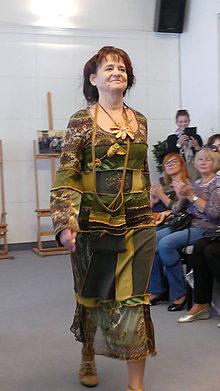 Šaty - ethno šaty ,smaragdový orient - 9889199_