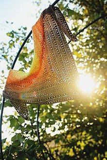 Šatky - Šatka - jesenné Slnko - 9889285_
