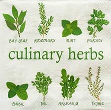Papier - S1258 - Servítky - mäta, bylinky, herbs, tymián, rukola, rozmarín - 9889359_
