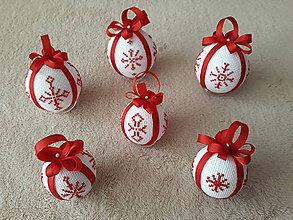 Dekorácie - Vyšívané vianočné guľky - 9889099_
