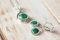 Sady šperkov - Strieborná súprava s malachitom - Malachitová jemnosť - 9888893_