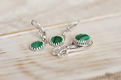 Sady šperkov - Strieborná súprava s malachitom - Malachitová jemnosť - 9888895_
