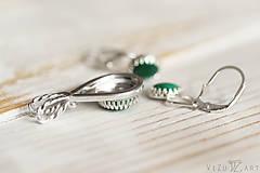 Sady šperkov - Strieborná súprava s malachitom - Malachitová jemnosť - 9888896_