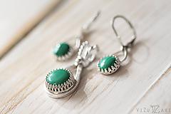 Sady šperkov - Strieborná súprava s malachitom - Malachitová jemnosť - 9888897_