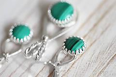 Sady šperkov - Strieborná súprava s malachitom - Malachitová jemnosť - 9888898_