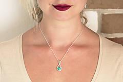 Sady šperkov - Strieborná súprava s malachitom - Malachitová jemnosť - 9890654_