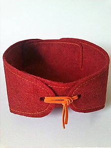 Krabičky - Miska/košíček (Bordová) - 9891933_