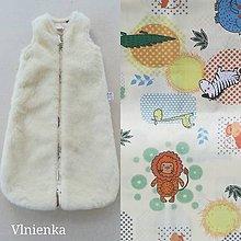 Textil - Spací vak pre deti a bábätká ZIMNÝ 100% MERINO na mieru ZOO zvieratká - 9888506_