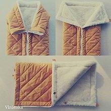 Textil - Deka DANIEL 100% merino Top Super wash ELEGANT 2 v 1 HONEY horčicová - 9890932_