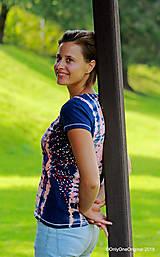 Topy, tričká, tielka - Dámske tričko batikované, maľované  POD LAMPOU - 9889242_