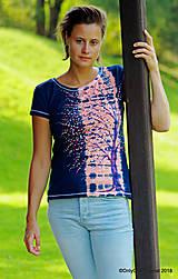 Topy, tričká, tielka - Dámske tričko batikované, maľované  POD LAMPOU - 9889271_