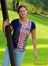 Topy, tričká, tielka - Dámske tričko batikované, maľované  POD LAMPOU - 9889291_