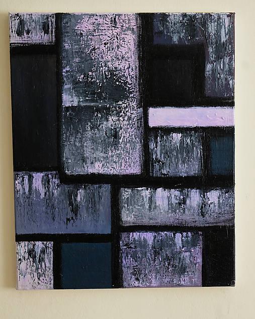 °hnev° /abstraktná maľba na plátne - akryl/