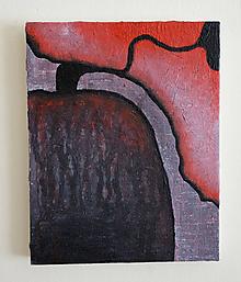 Obrazy - akt /abstraktná maľba na plátne - akryl a akvarel/ - 9891136_