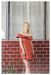 Šaty - Šaty off shoulder - 9889207_