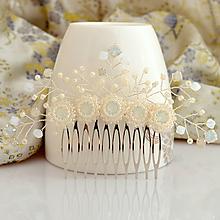 Ozdoby do vlasov - Ana hrebienok (Cream Ivory) - 9890739_