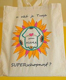 Nákupné tašky - Taška ručne maľovaná Som mama - 9889639_
