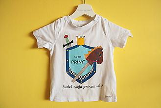 Tričká - Tričko ručne maľované Som princ - 9889693_