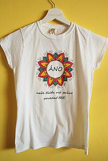 Tričká - Tričko ručne maľované Áno - 9889706_