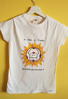 Tričká - Tričko ručne maľované Som mama2 - 9889737_