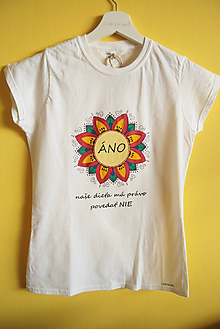 Tričká - Tričko ručne maľované Áno - 9889744_