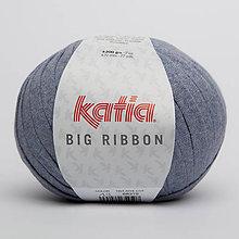 Galantéria - Priadza KATIA Big Ribbon (13 džínsová) - 9889740_