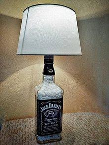 Svietidlá a sviečky - Lampa z fľaše Jack Daniels - 9890992_