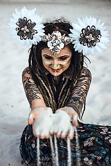 Ozdoby do vlasov - Prírodná koruna z kolekcie Wild Woman - 9890997_