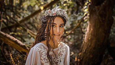 Ozdoby do vlasov - Svadobná korunka