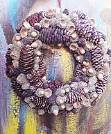 Dekorácie - Vianočný prírodný veniec  - 9891687_
