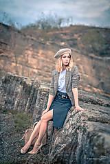 Sukne - Denimová sukňa úzka - 9891478_