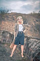 Sukne - Denimová sukňa úzka - 9891479_