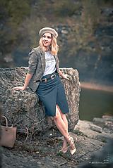 Sukne - Denimová sukňa úzka - 9891482_