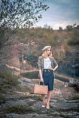 Sukne - Denimová sukňa úzka - 9891483_