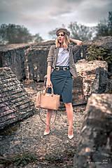 Sukne - Denimová sukňa úzka - 9891487_