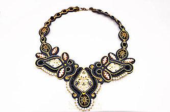 Náhrdelníky - Soutache náhrdelník - Shiny - 9889169_