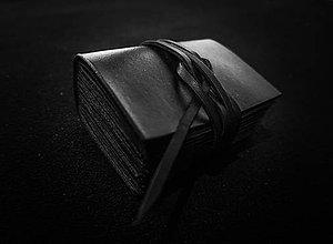 Papiernictvo - Kožený zápisník DARK - 9891204_