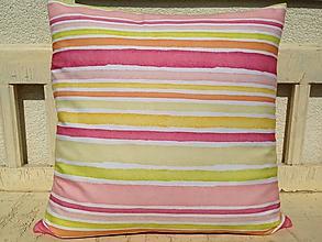 Úžitkový textil - Pásikový vankúš - 9891859_