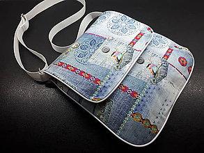 Veľké tašky - Cross body bag   (Modrá folk) - 9895767_