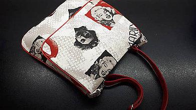 Veľké tašky - Cross body bag   (Červená s Marilin) - 9895782_