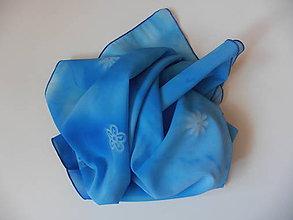 Šály - šál modrý - 9895469_