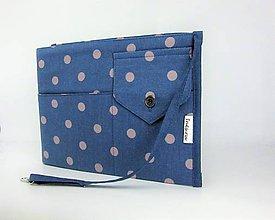 Taštičky - Rolovací organízer do kabelky modrý bodkovaný - 9893155_